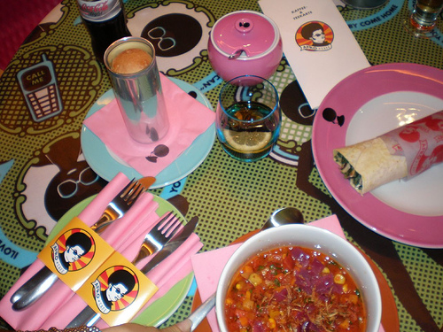afro place settings