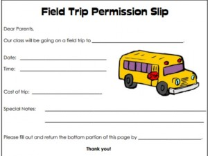 Field-Trip-Permission-Slip-Template