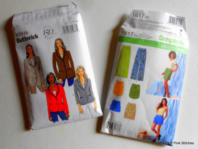 patterns for jacket and shorts