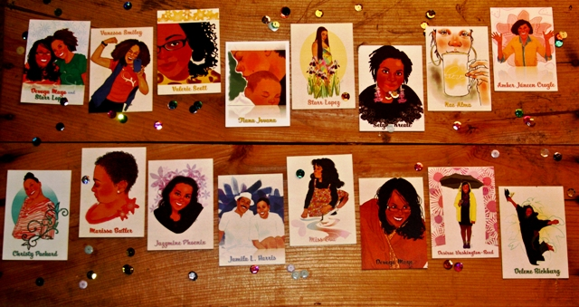 Happy Black Girl Trading Cards!